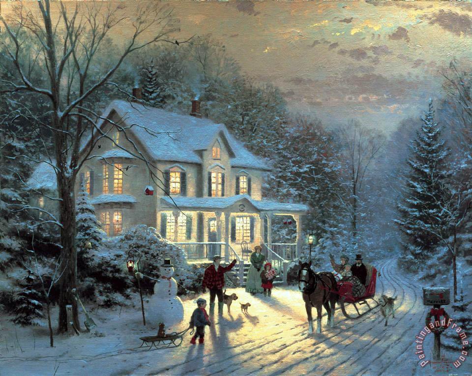 Thomas kinkade home for the holidays painting home for for Paintings for home