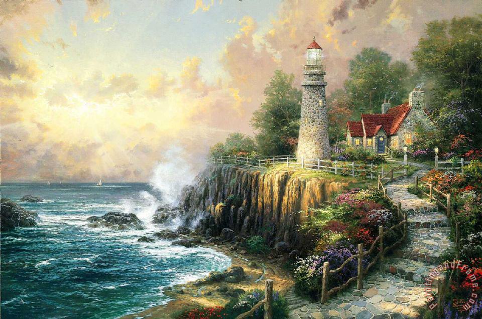 Thomas Kinkade The Light Of Peace Painting The Light Of