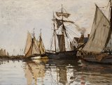 The Port of Honfleur by Claude Monet