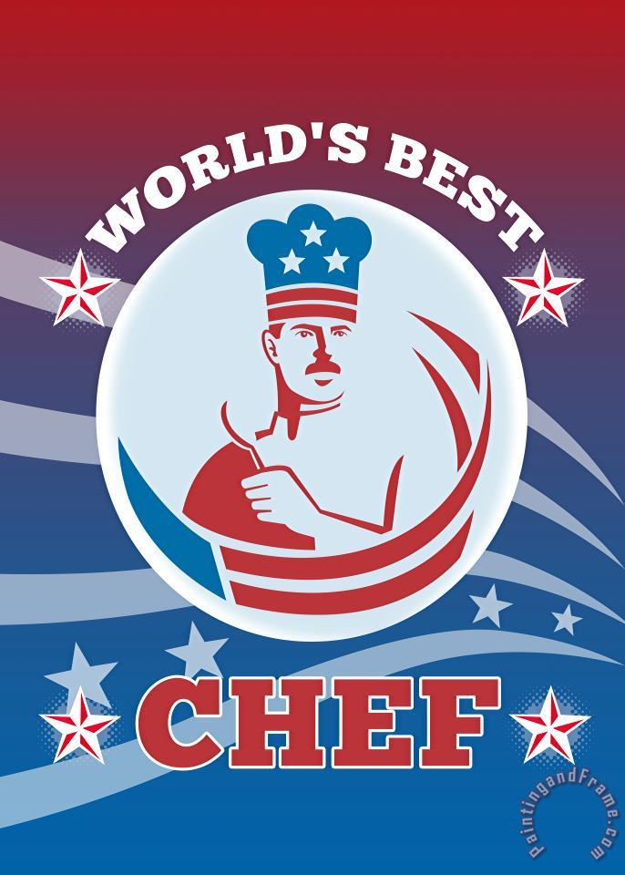 Collection 10 World's Best American Chef Greeting Card Poster Art Print