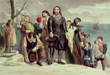 The Landing of the Pilgrims at Plymouth by Currier and Ives