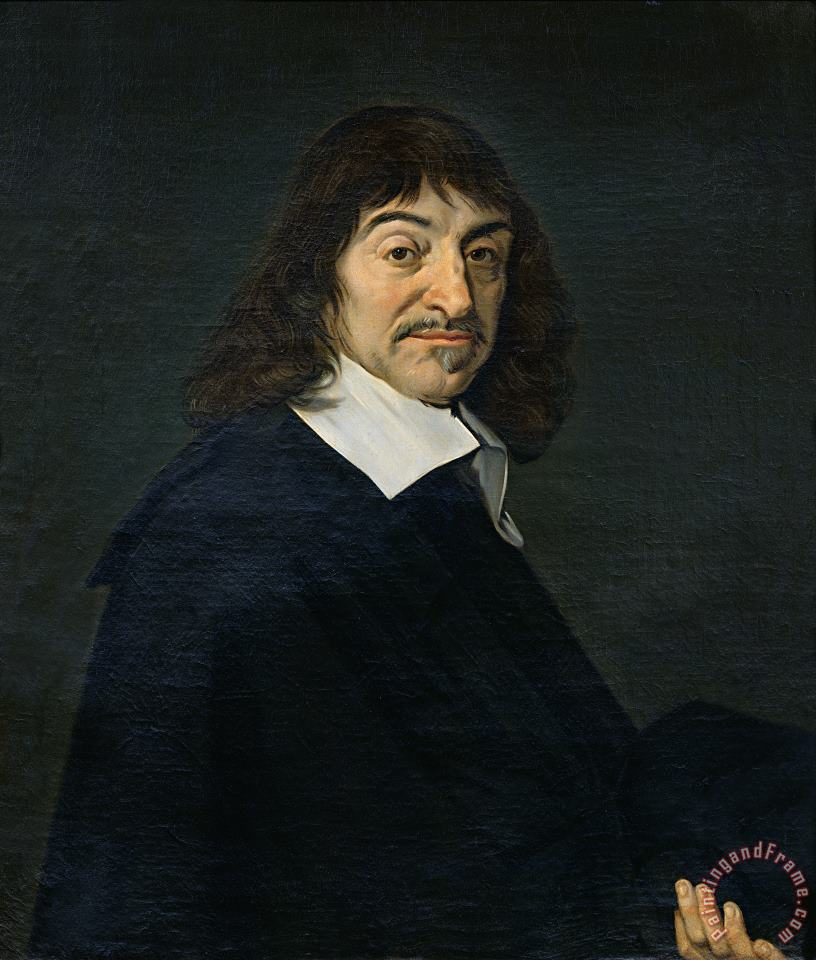 Portrait of Rene Descartes painting - Frans Hals Portrait of Rene Descartes Art Print