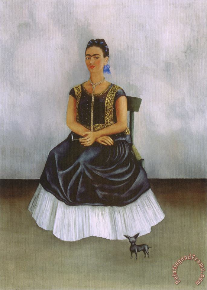 Frida Kahlo Itzcuintli Dog with Me 1938 Art Painting