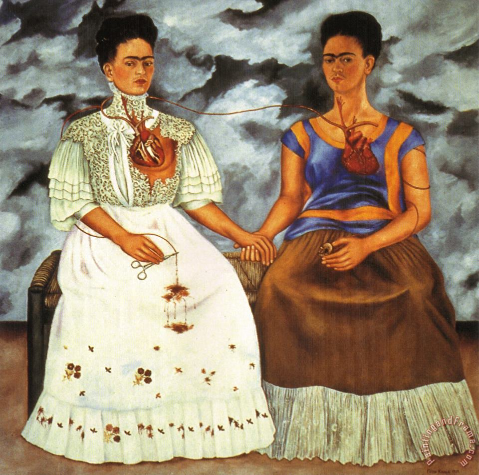 Frida Kahlo The Two Fridas 1939 Art Painting