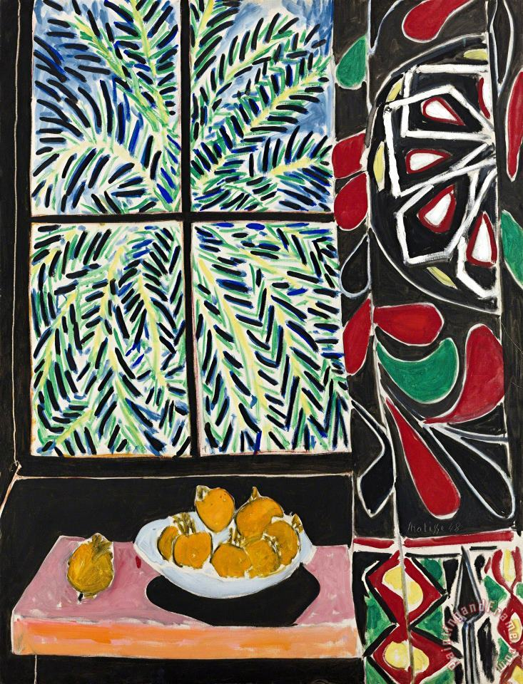 Interior with Egyptian Curtain 1948 painting - Henri Matisse Interior with Egyptian Curtain 1948 Art Print