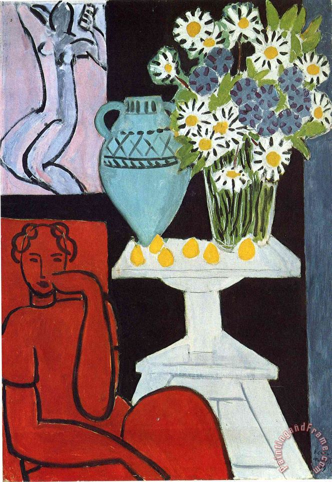 The Daisies 1939 painting - Henri Matisse The Daisies 1939 Art Print