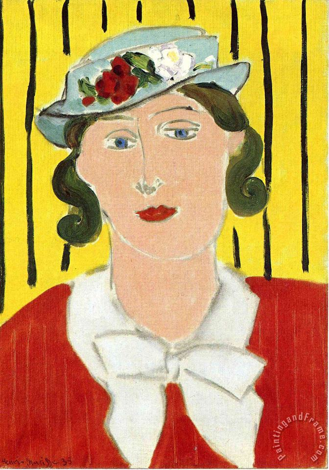 Woman Portrait 1939 painting - Henri Matisse Woman Portrait 1939 Art Print