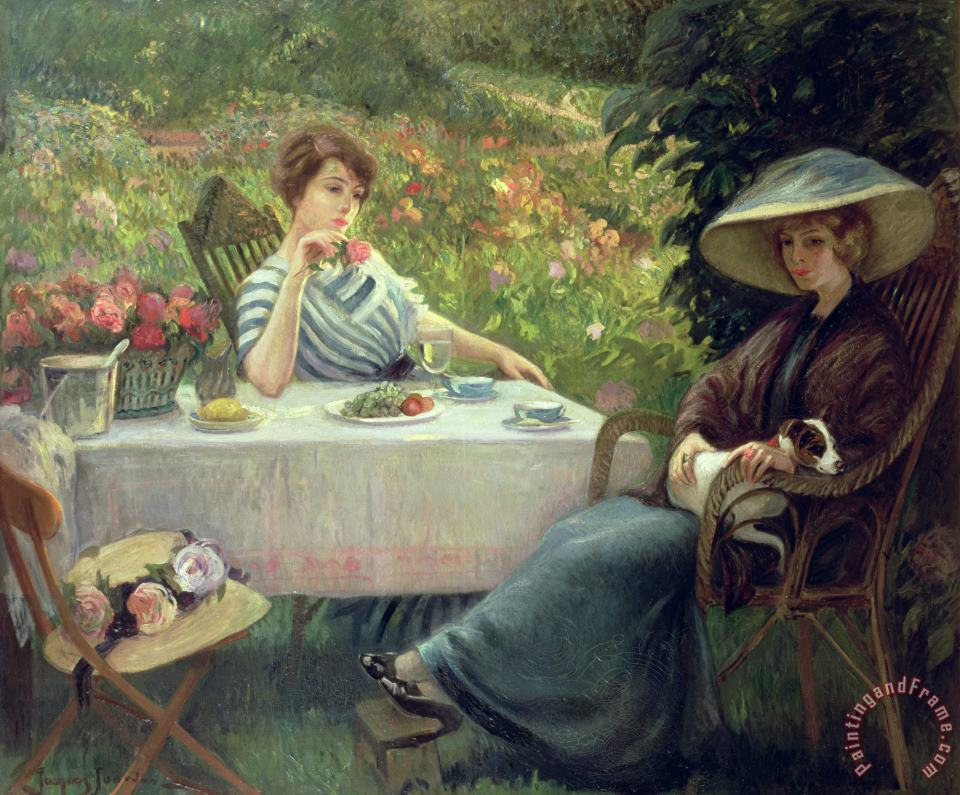 Tea Time painting - Jacques Jourdan Tea Time Art Print