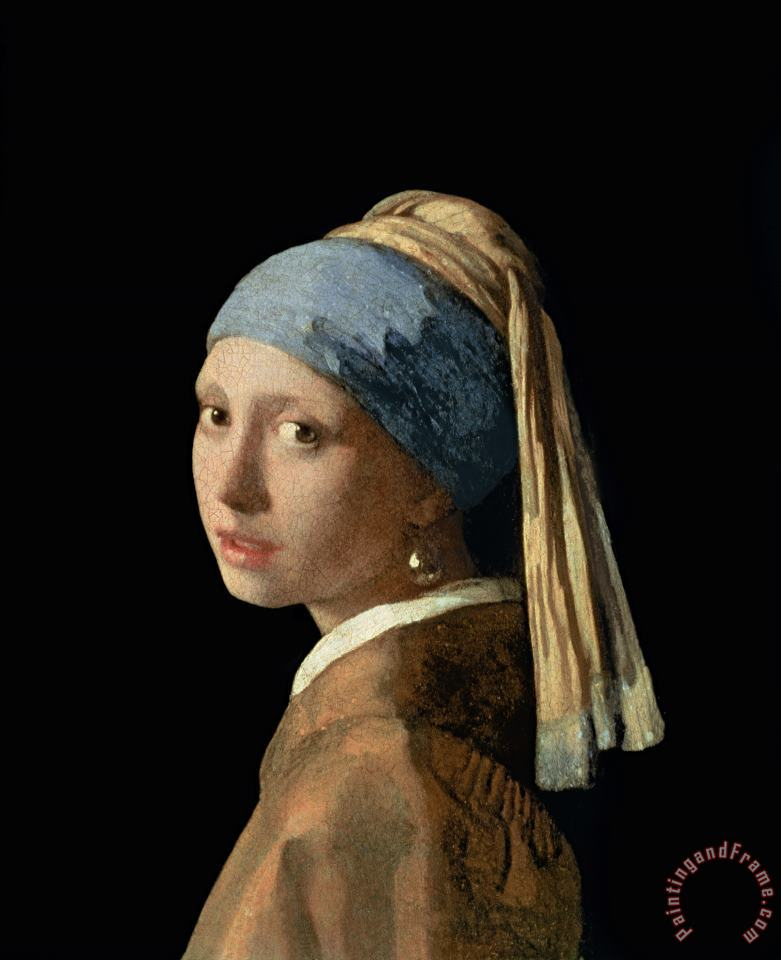 Girl with a Pearl Earring painting - Jan Vermeer Girl with a Pearl Earring Art Print