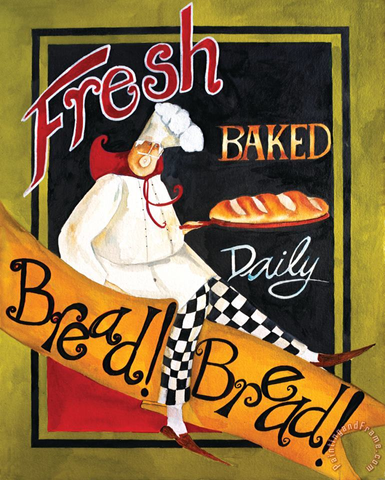 Fresh Baked Bread painting - Jennifer Garant Fresh Baked Bread Art Print