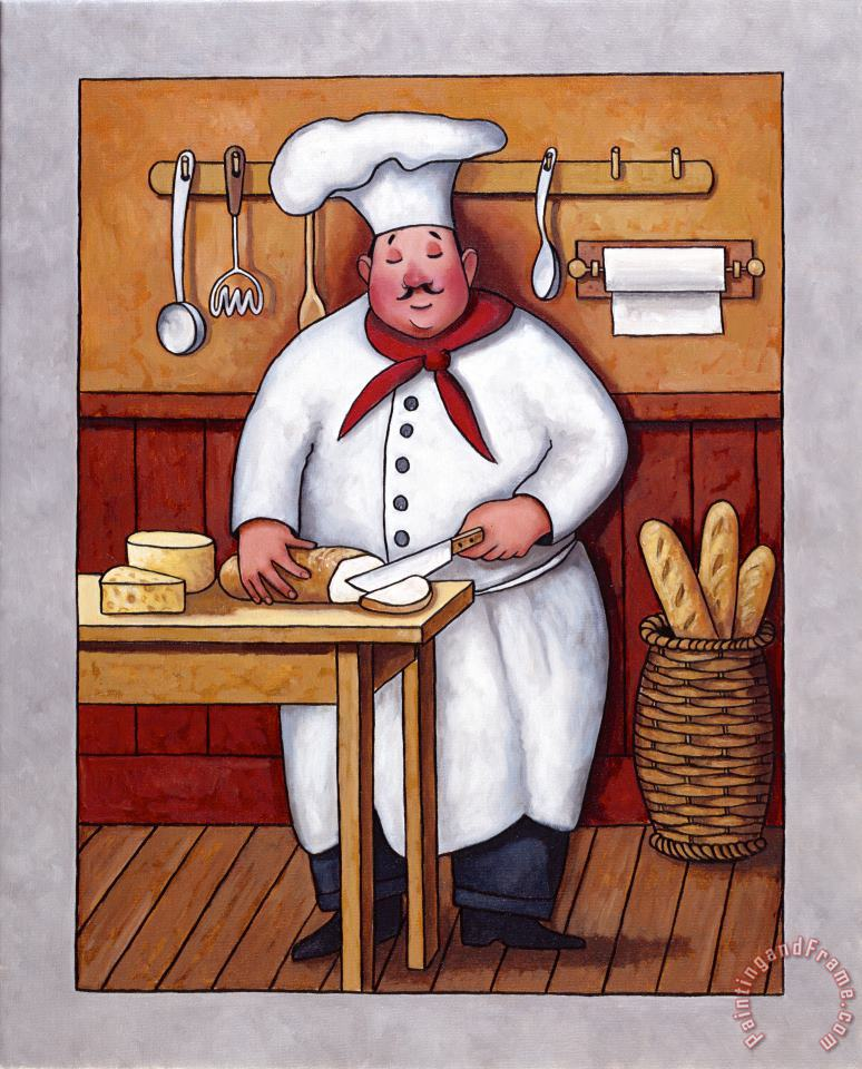 Chef 3 painting - John Zaccheo Chef 3 Art Print