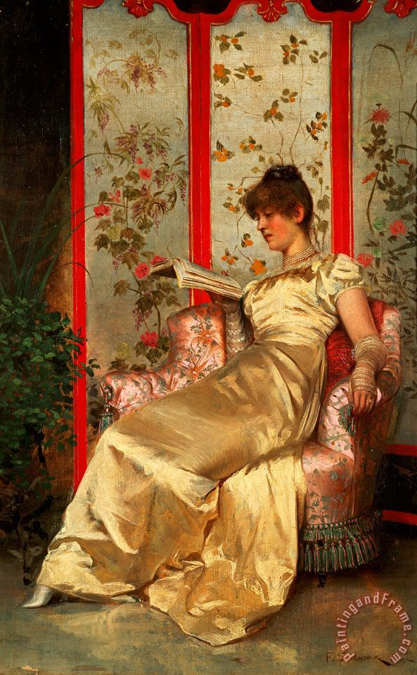 Lady Reading painting - Joseph Frederick Charles Soulacroix Lady Reading Art Print