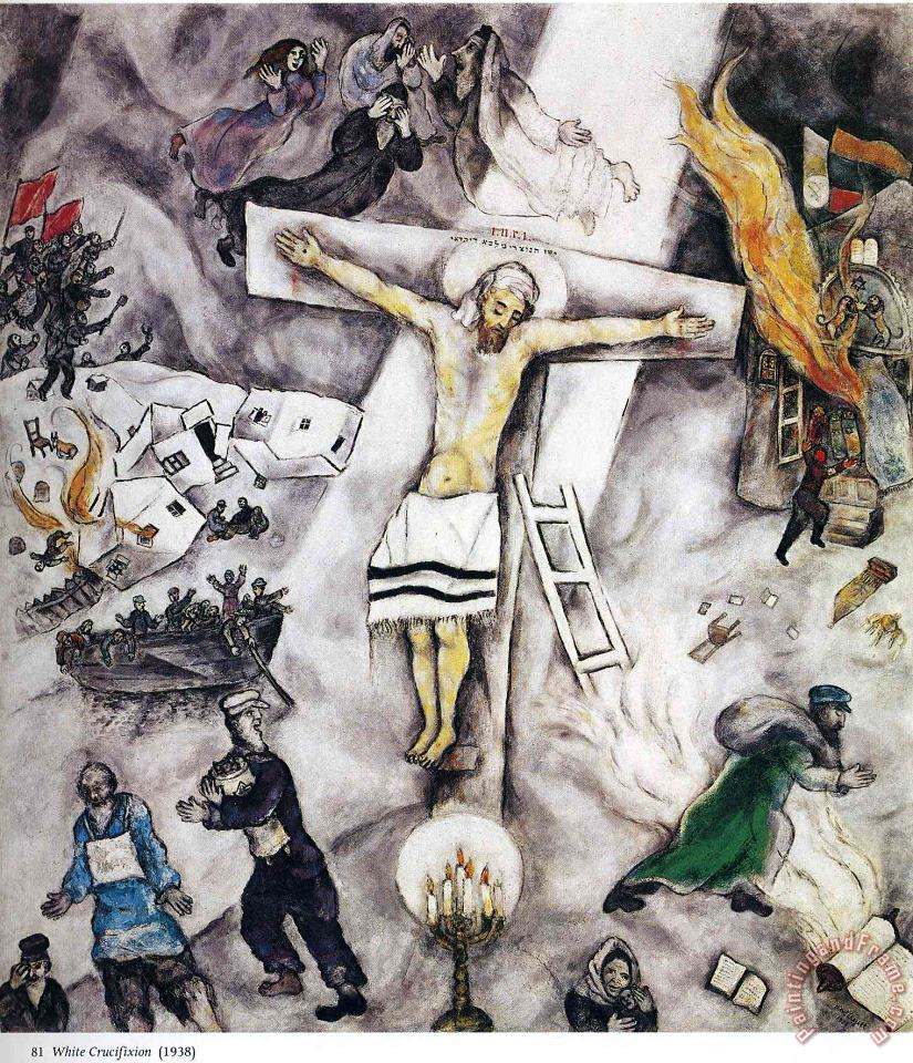 Marc Chagall White Crucifixion 1938 Art Painting