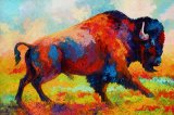Running Free - Bison by Marion Rose