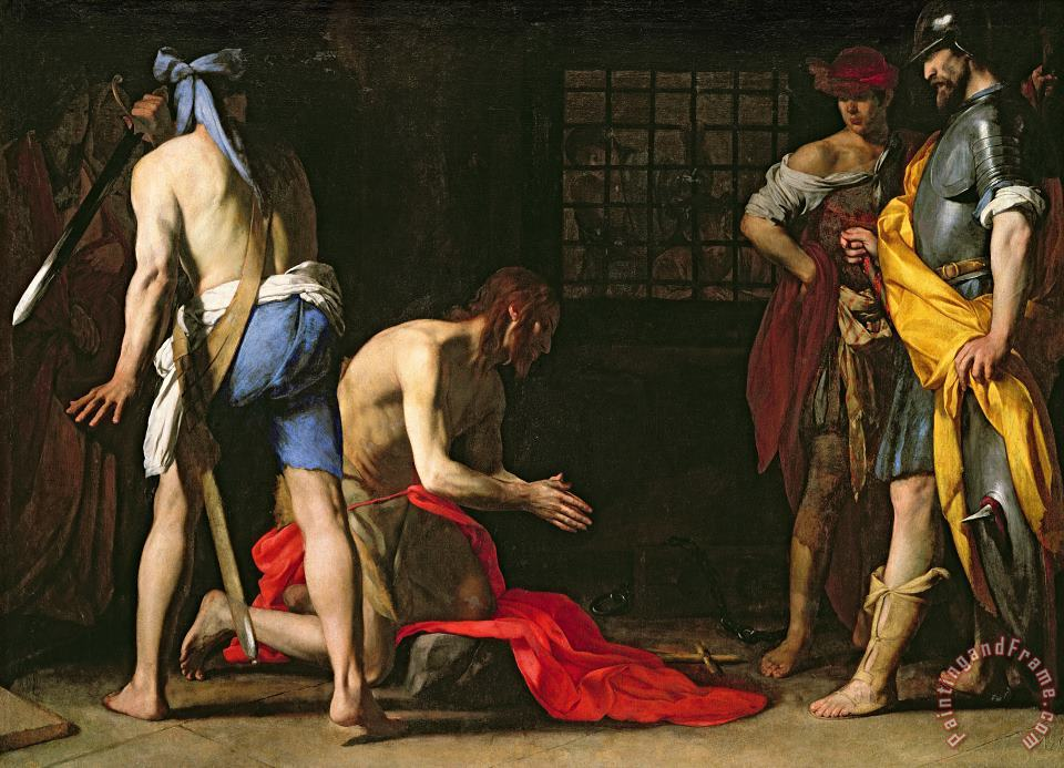 The Beheading of John the Baptist painting - Massimo Stanzione The Beheading of John the Baptist Art Print