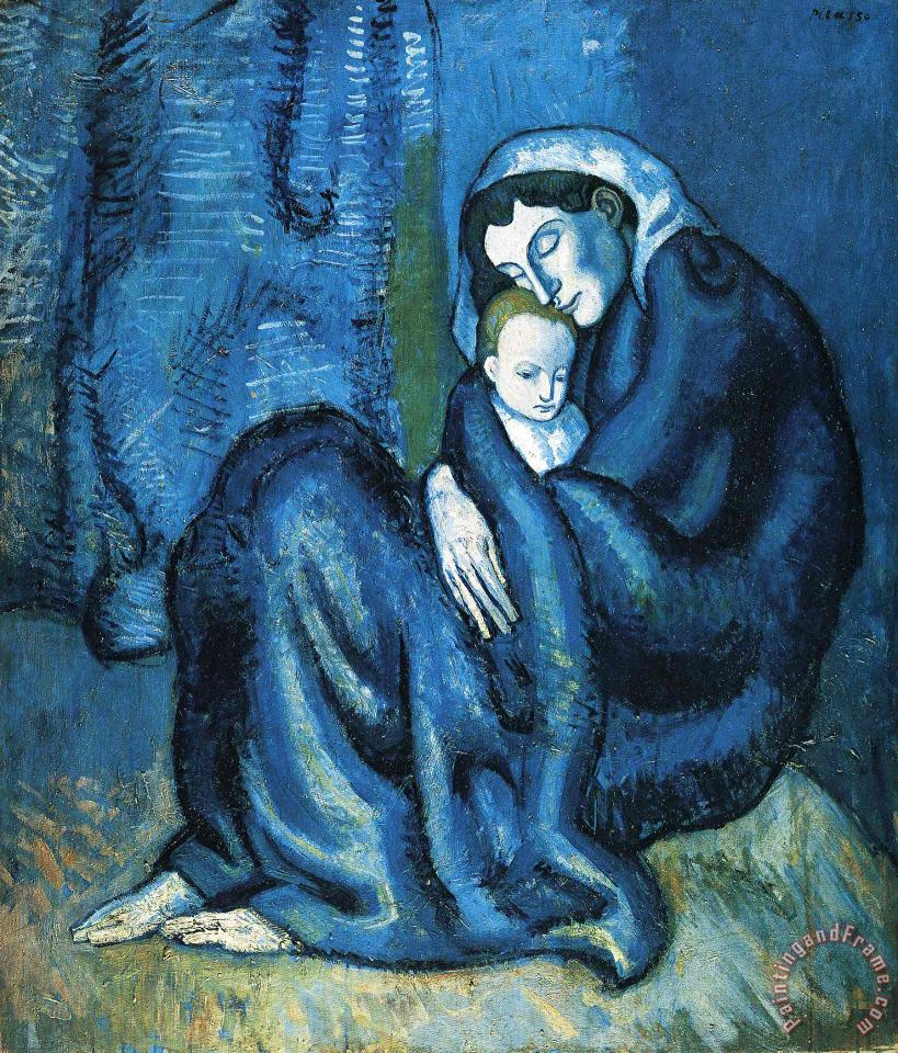 Mother And Child 1902 painting - Pablo Picasso Mother And Child 1902 Art Print