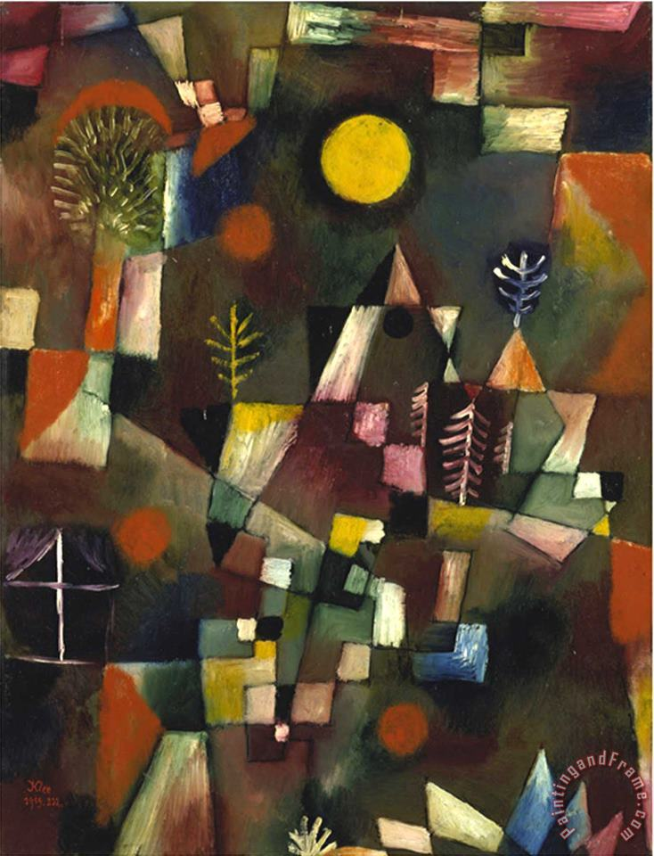 Full Moon 1919 painting - Paul Klee Full Moon 1919 Art Print