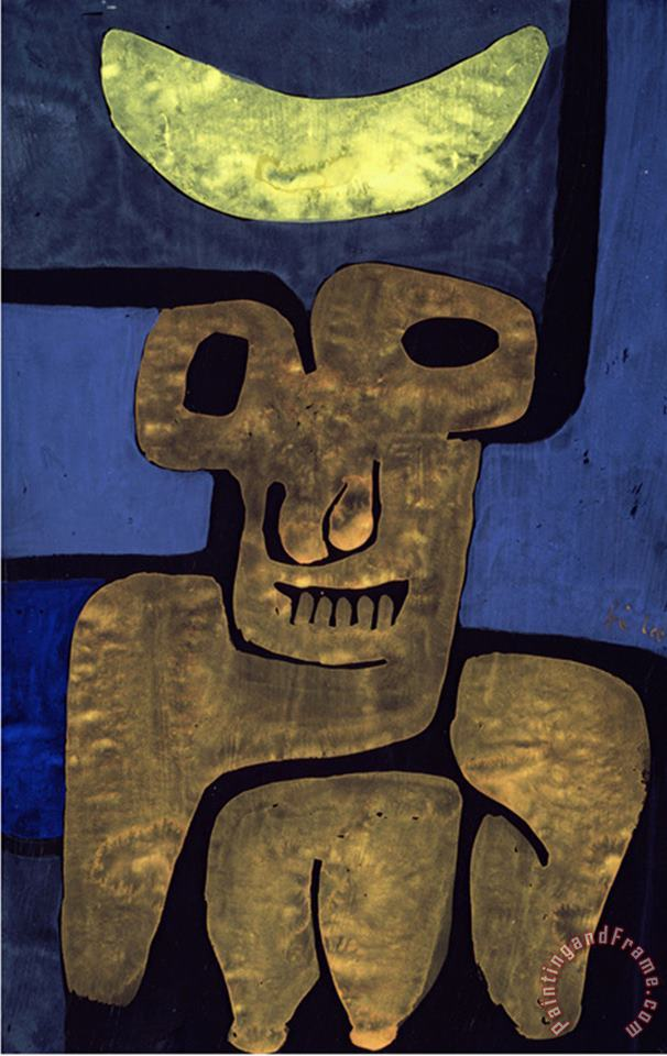 Paul Klee Moon of The Barbarians Luna Der Barbaren Art Print