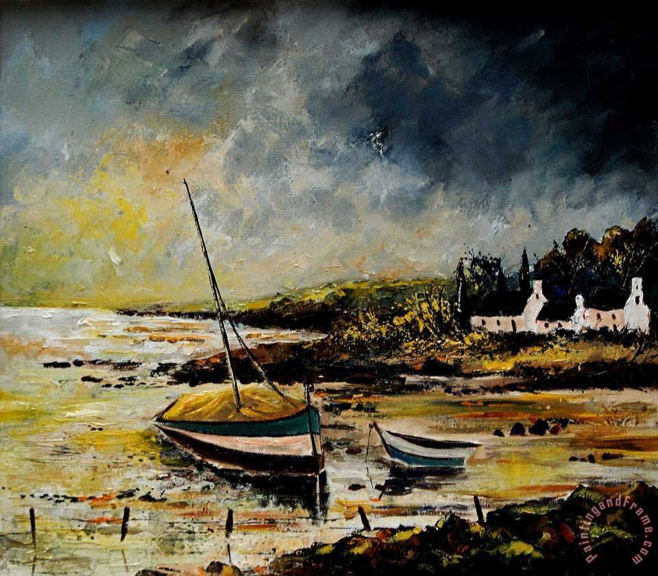 Seascape 452654 painting - Pol Ledent Seascape 452654 Art Print