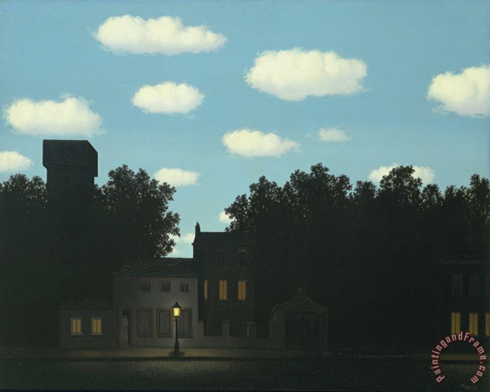 rene magritte Empire of Light II 1950 Art Print