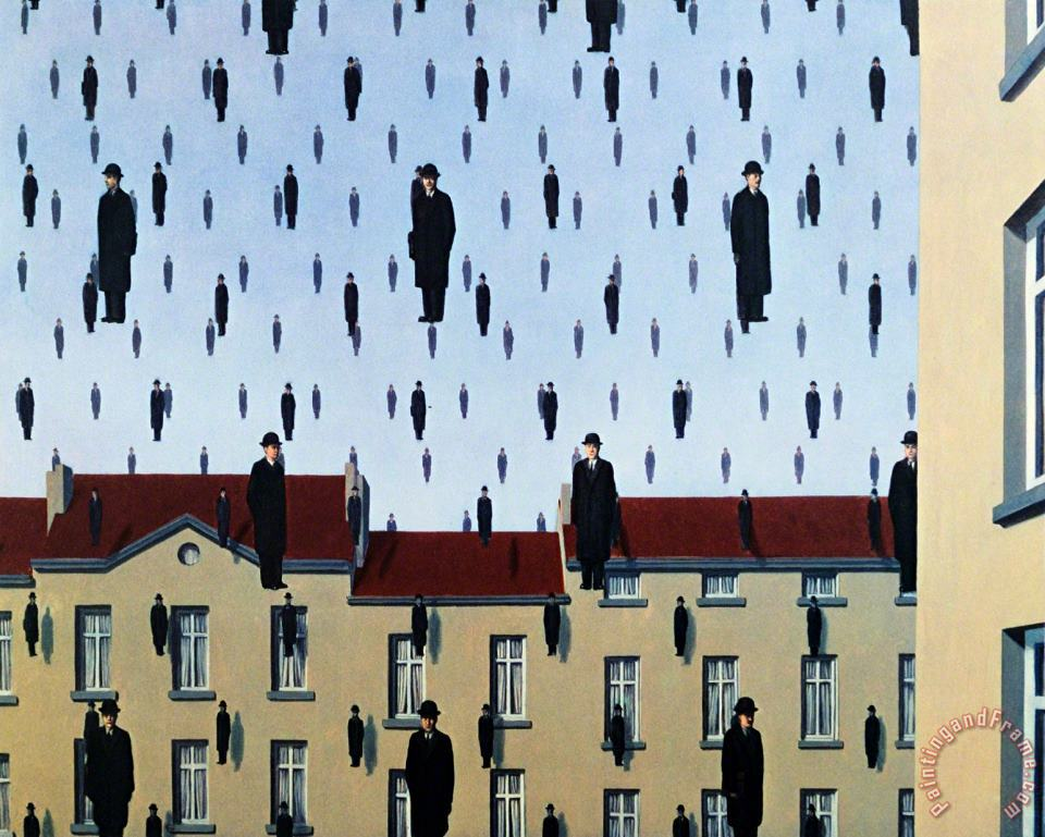 rene magritte Golconde Art Painting