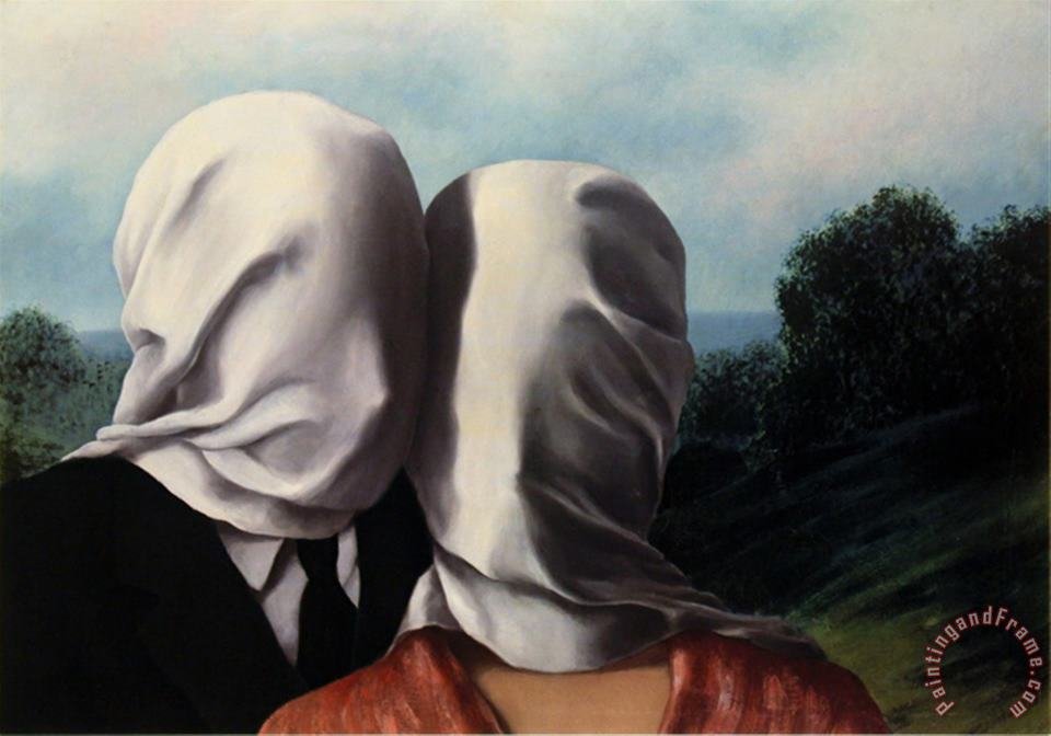 rene magritte Les Amants Lovers Art Painting
