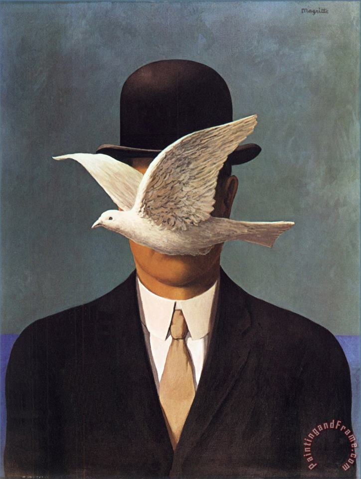 rene magritte Man in a Bowler Hat 1964 Art Print