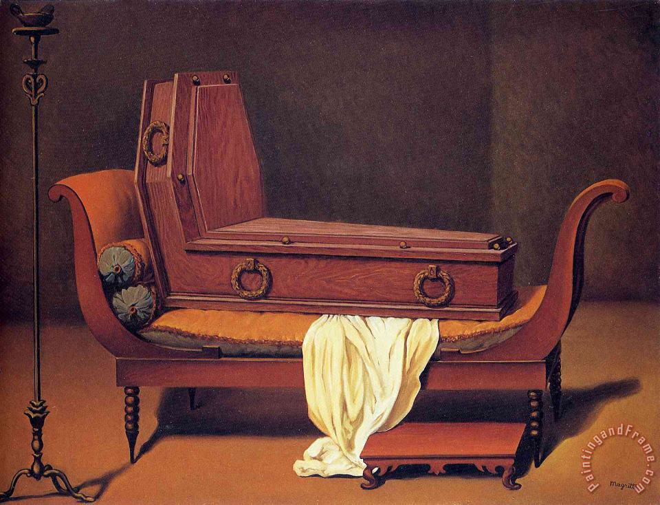 rene magritte Perspective Madame Recamier by David 1949 Art Painting