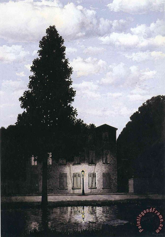 rene magritte The Empire of Lights 1954 Art Print