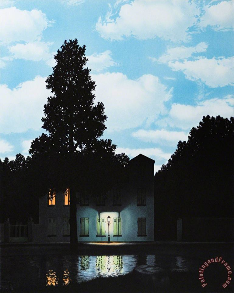 The Empire of Lights 1954 II painting - rene magritte The Empire of Lights 1954 II Art Print