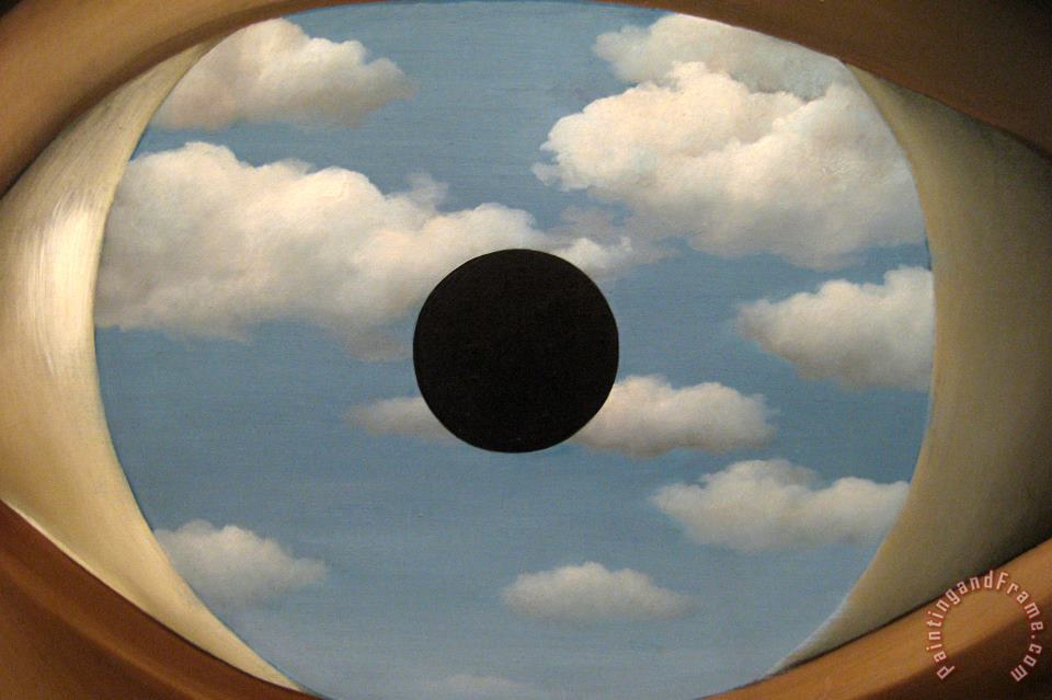 rene magritte The False Mirror 1928 Art Painting