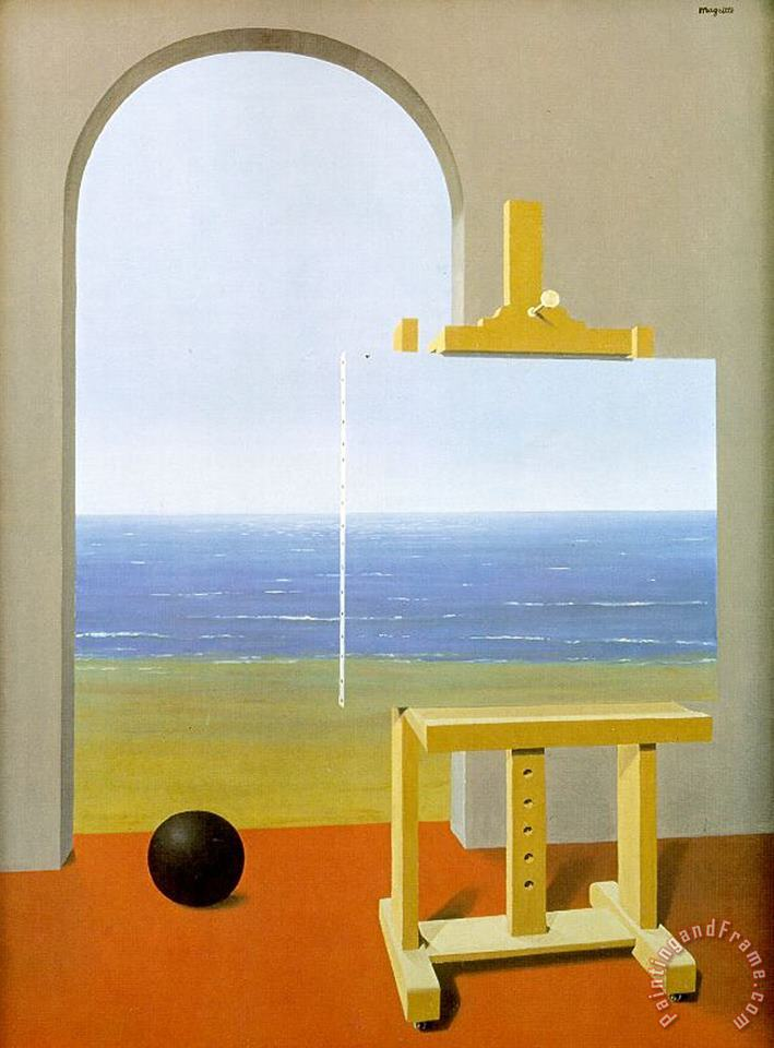 The Human Condition 1935 painting - rene magritte The Human Condition 1935 Art Print