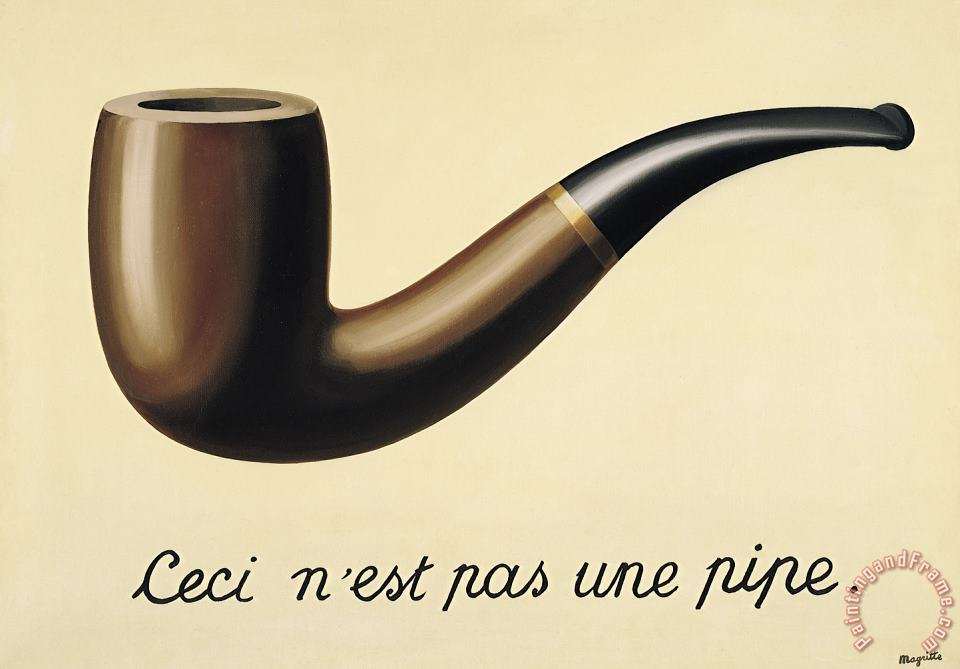 rene magritte The Treachery of Images This Is Not a Pipe 1948 Art Painting