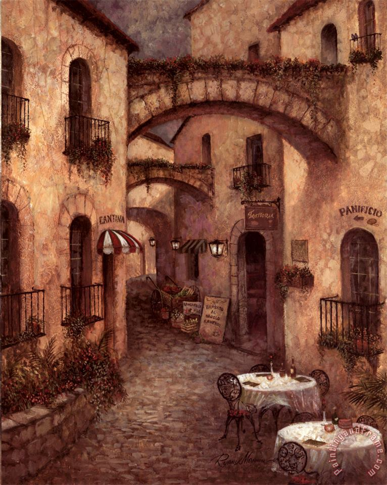 Buon Appetito II painting - Ruane Manning Buon Appetito II Art Print