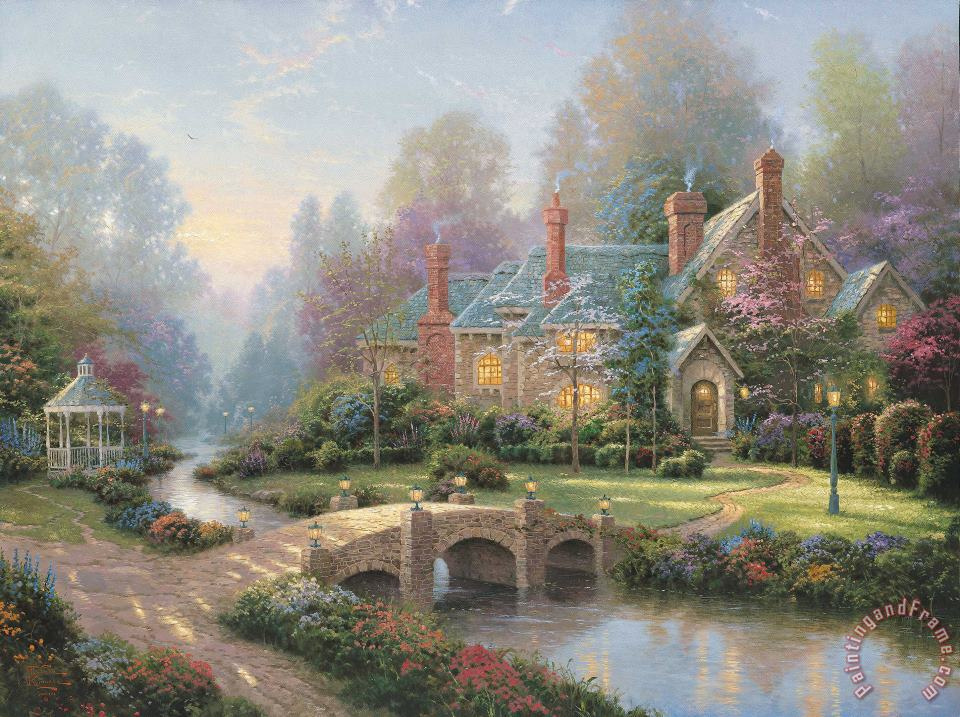 Thomas Kinkade Beyond Spring Gate Art Print