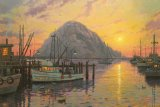Morro Bay at Sunset by Thomas Kinkade