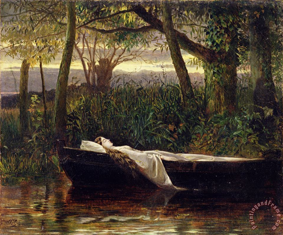 The Lady of Shalott painting - Walter Crane The Lady of Shalott Art Print