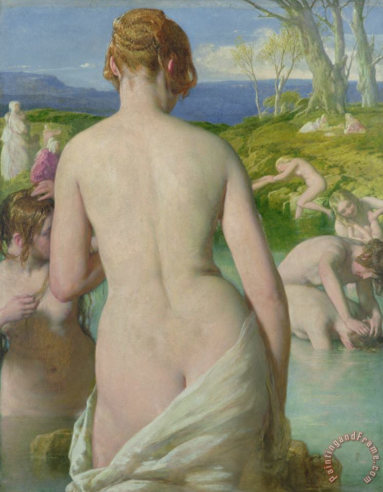 The Bathers painting - William Mulready The Bathers Art Print