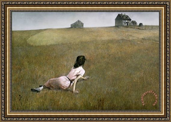 Andrew Wyeth Christina S World 1948 Framed Print For Sale