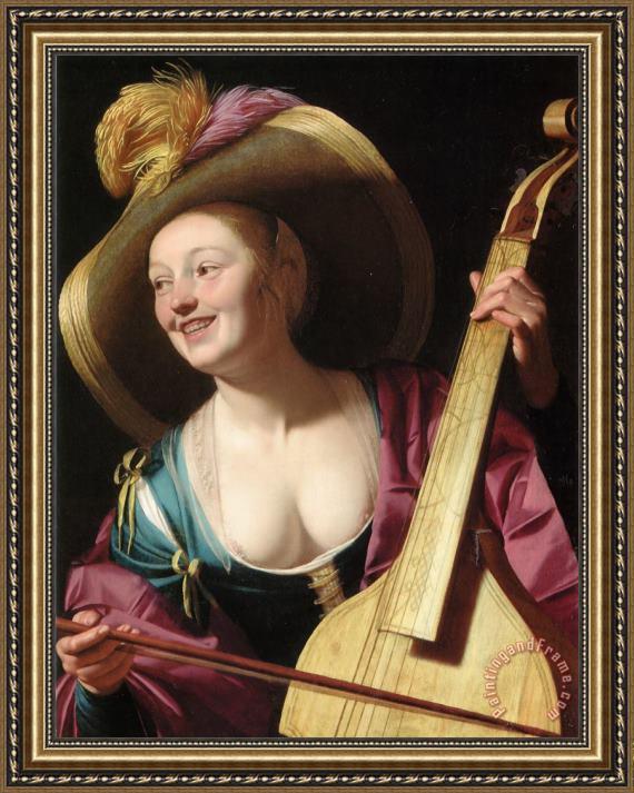 Woman In Blue In Gerrit Van Honthorst Paintings