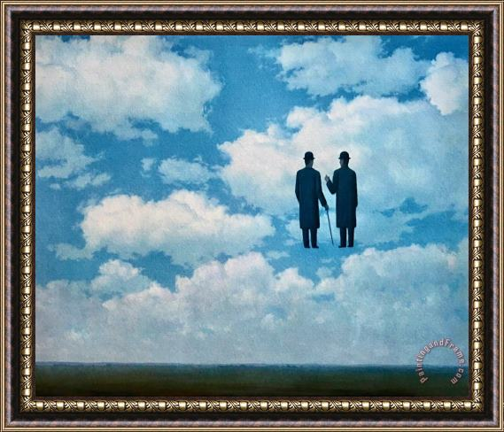 rene magritte The Infinite Recognition 1963 Framed Print