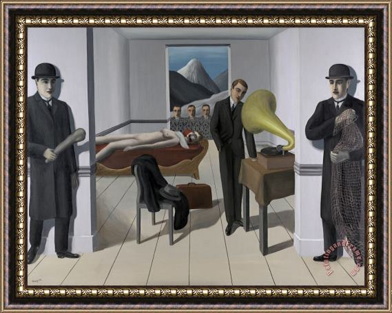 rene magritte The Menaced Assassin, 1927 Framed Print