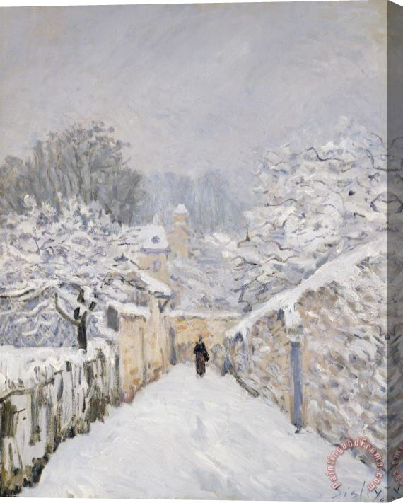 Alfred Sisley Snow at Louveciennes Stretched Canvas Print / Canvas Art