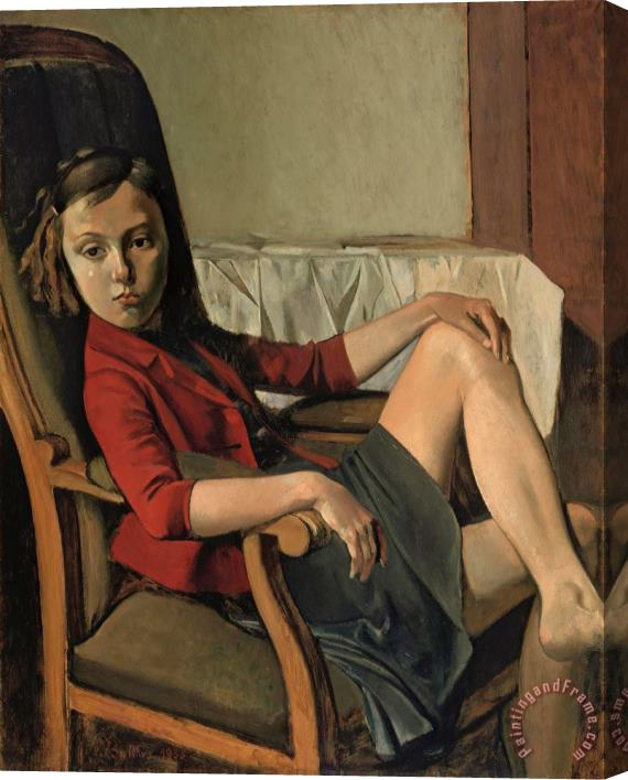 Balthasar Klossowski De Rola Balthus Therese 1938 Stretched Canvas Painting / Canvas Art