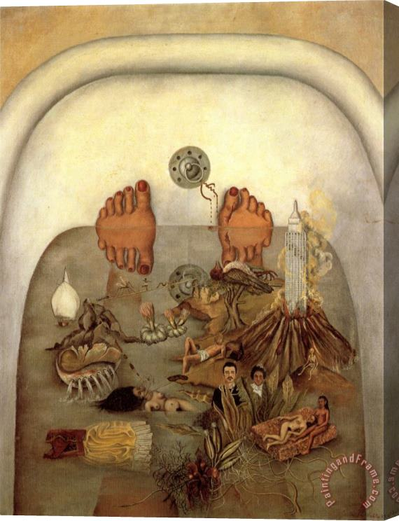 Frida Kahlo What The Water Gave Me 1938 Stretched Canvas Painting / Canvas Art