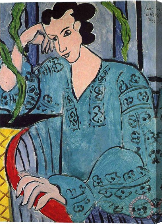 Henri Matisse The Romanian Green Bluse 1939 Stretched Canvas Print / Canvas Art