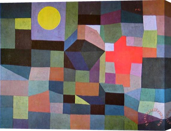 Paul Klee Fire at Full Moon 1933 Stretched Canvas Print / Canvas Art