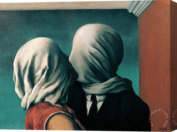 rene magritte The Lovers 1928 Stretched Canvas Print / Canvas Art