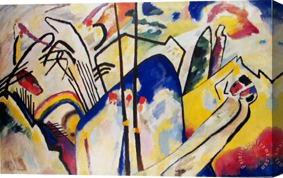 Wassily Kandinsky Komposition 4 1939 Stretched Canvas Print / Canvas Art