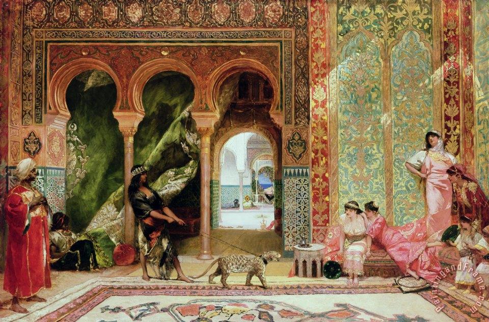 benjamin jean joseph constant a royal palace in morocco painting a royal palace in morocco. Black Bedroom Furniture Sets. Home Design Ideas